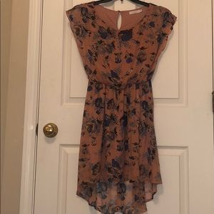 Nordstrom high low clinched waist floral dress